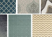 Add a Calming Rug In Blue, Grey, & Natural