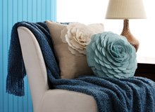 Toss On Finishing Touches In Blue, Grey, & Natural