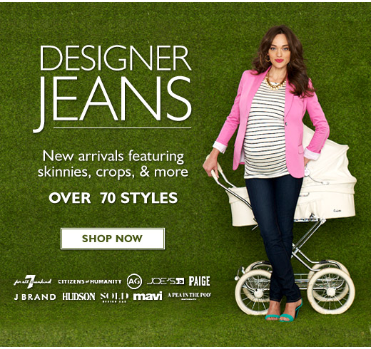 Designer Jeans - New designer styles featuring colored skinnies, crops, and more