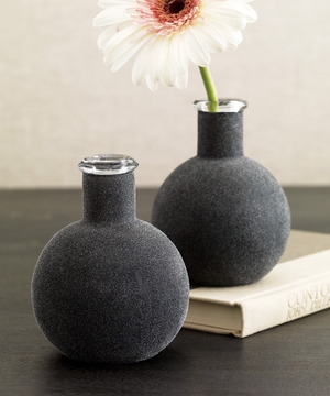 Black On Glass Vase