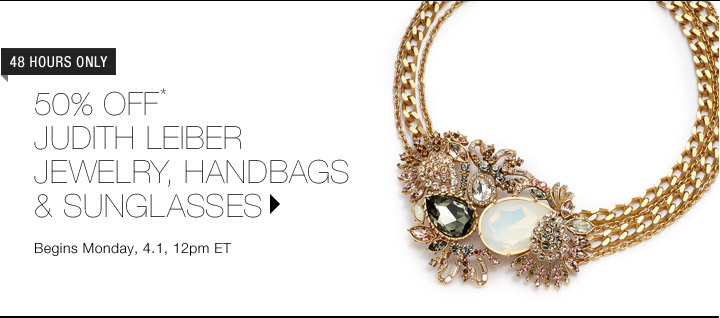 Up To 50% Off* Judith Leiber Jewelry, Sunglasses & Handbags
