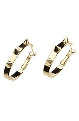 The Spike Go Round Hoop Earrings In Gold