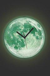 The Moon Wall Clock (Glow in the Dark)