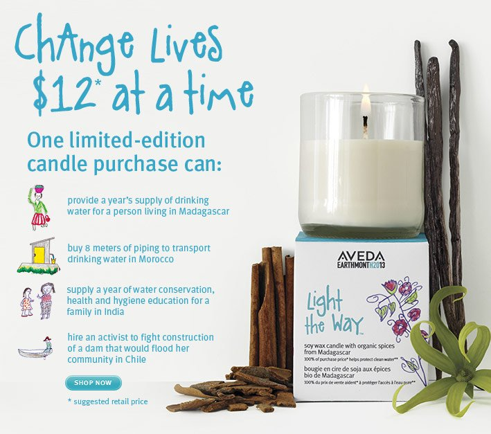 change lives $12 at a time.  shop now.