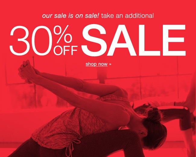 Extra 30% Off Sale. Shop now