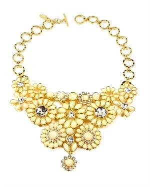 Amrita Singh Resin & Crystal Cocoa Bib Necklace
