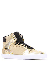 The Vaider Sneaker in Gold Leather and Glitter
