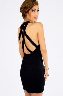 Late Notice Cross Back Dress $37