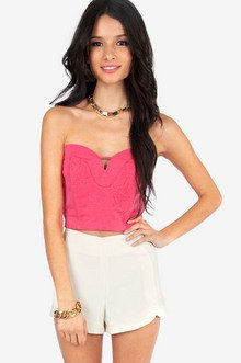 Heartily Embossed Crop Top $21