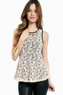 Enchanted Lace Peplum Top $23