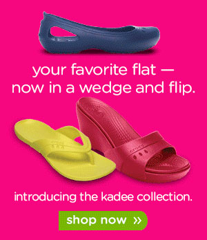 your favorite flat — now in a wedge and flip. introducing the kadee collection. shop now