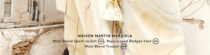 Always unexpected: Shop Maison Martin Margiela men's clothing.