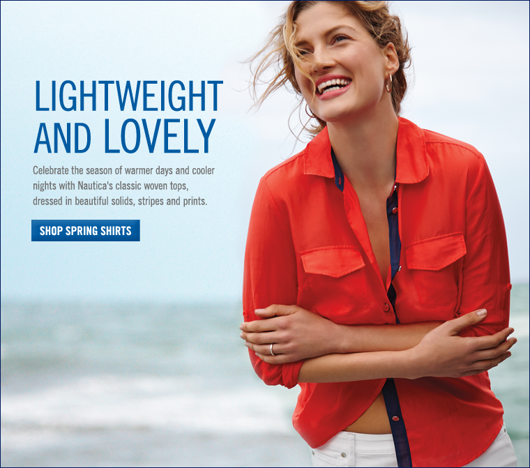 Lightweight and Lovely. Celebrate the season with classic women's tops.