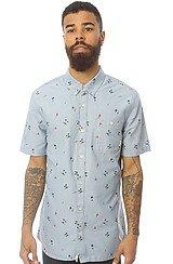 The Rusden Mini Palm Buttondown Shirt in Federal Blue Print
