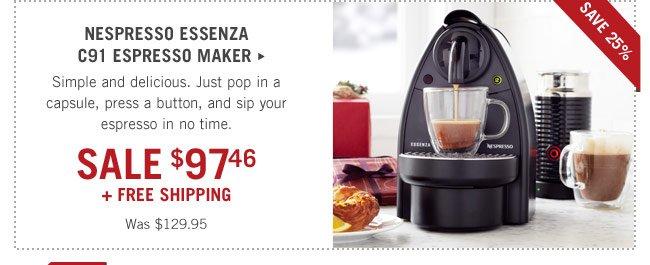 Nespresso Essenza SALE $97.96
