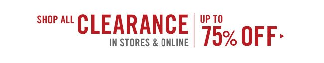 Clearance: Save up to 75%