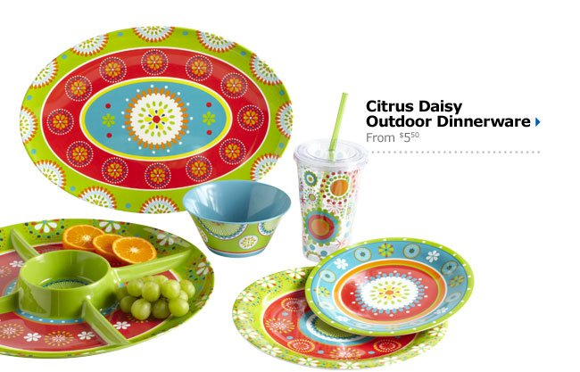 Citrus Daisy Outdoor Dinnerware