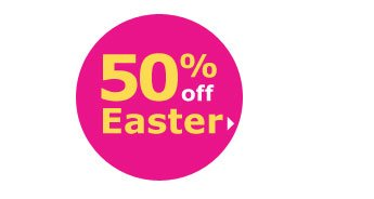 50% off Easter
