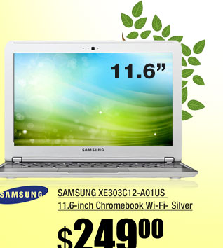 SAMSUNG XE303C12-A01US 11.6-inch Chromebook Wi-Fi- Silver