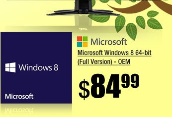 Microsoft Windows 8 64-bit (Full Version) - OEM