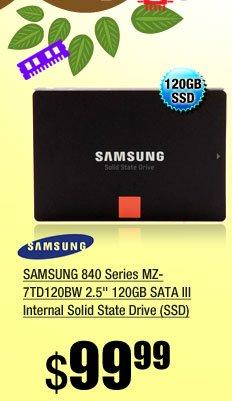 SAMSUNG 840 Series MZ-7TD120BW 2.5 inch 120GB SATA III Internal Solid State Drive (SSD)
