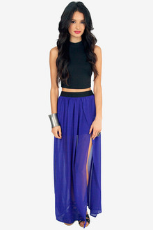 Emsee Slit Maxi Skirt $29