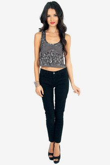 Brianna Sequin Tank Top $36