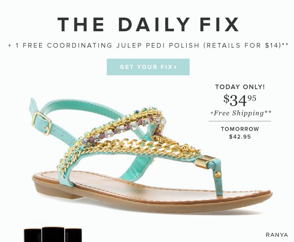Free Julep Nail Polish with The Daily Fix Today Only!   Get Your Fix >