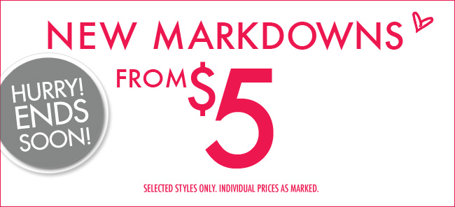 $5 Markdowns