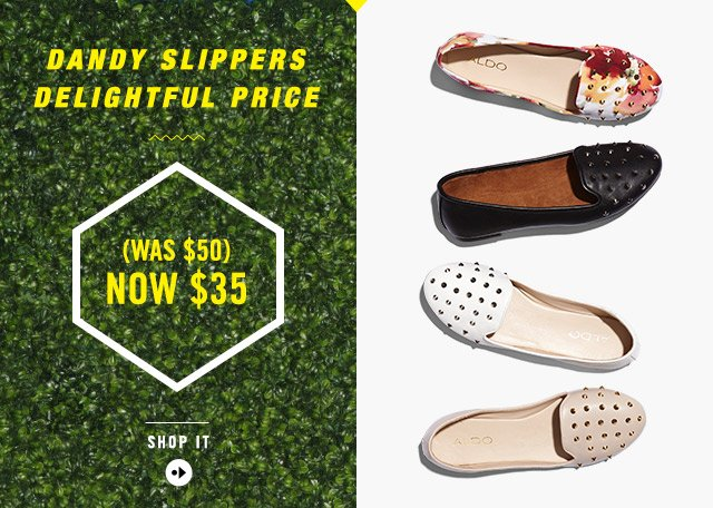 DANDY SLIPPERS DELIGHTFUL PRICE (WAS $50) NOW $35