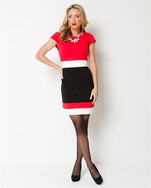 Sandra Darren Three-Color Dress