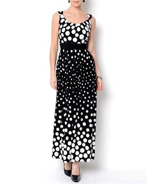 Glamour Pleated Polkadot Dress