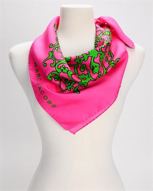 Marc Jacobs Floral Printed Silk Scarf - Made In Italy