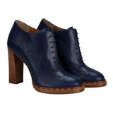 Navy Dunst Heeled Brogues