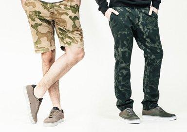 Shop Elwood Camo-Style Shorts & Chinos