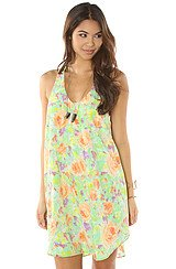 The Garden Party Dress in Green Combo