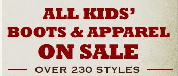 Over 230 Styles of Kids' Boots and Apparel, All on Sale