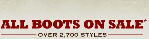 Shop All Boots on Sale