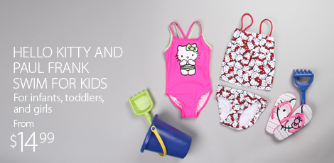 Hello Kitty and Paul Frank Swim For Kids