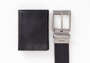 Shop by Color: Black Wallets & Belts