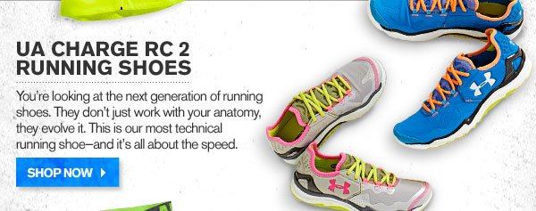 UA CHARGE 2 RUNNING SHOES. SHOP NOW.