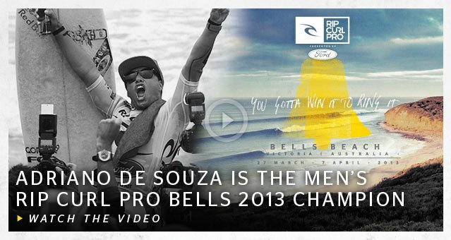 Adriano de Souza Is The Men's Rip Curl Pro Bells 2013 Champion - Watch The Video