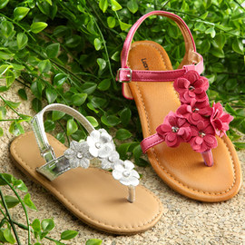 Garden Walk: Floral Sandals