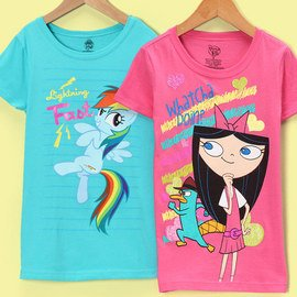 Friendly Faces: Girls' Tees