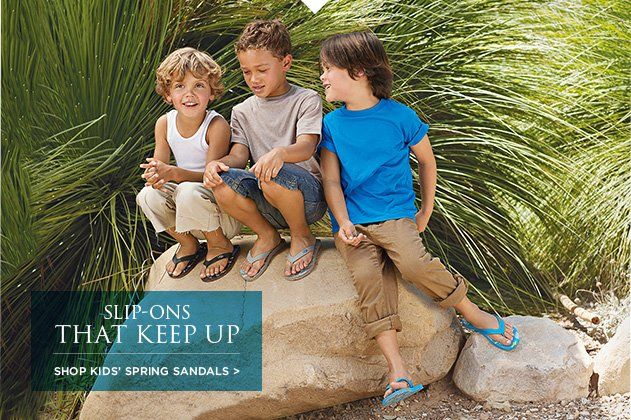 Slip-Ons That Keep Up - Shop Kids' Spring Sandals >
