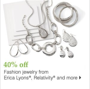 40% off Erica Lyons® fashion jewelry