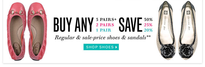 Buy more save more on our shoes