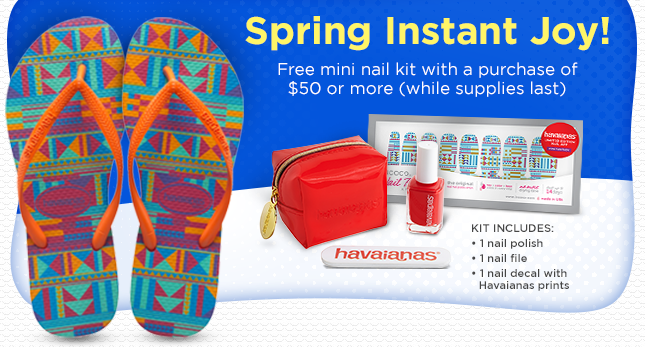 April Brings Instant Joy with NEW ARRIVALS and a FREE NAIL KIT with a Purchase of $50 or More!