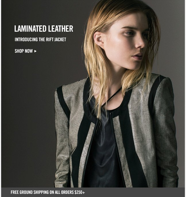 LAMINATED LEATHER - Introducing the Rift Jacket - Shop now