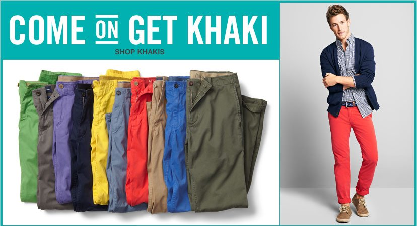 COME ON GET KHAKI | SHOP KHAKIS